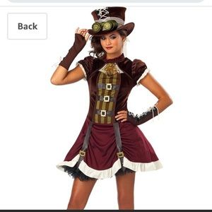 Steampunk Costume with Hat and Gloves